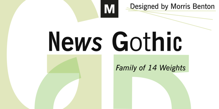 Daily news gothic font free