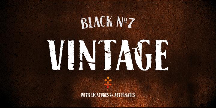 black no 7 regular font free