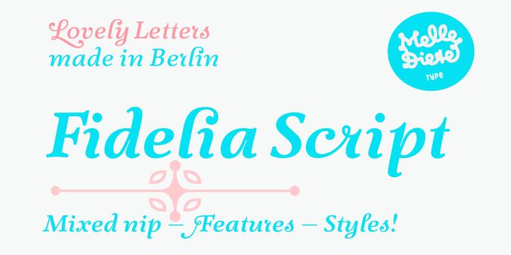 Fidelia Script Font Webfont Desktop Myfonts
