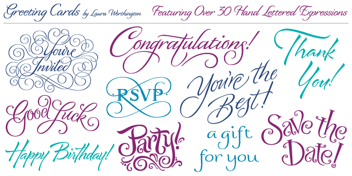 Greeting cards webfont desktop font myfonts bookmarktalkfo Choice Image