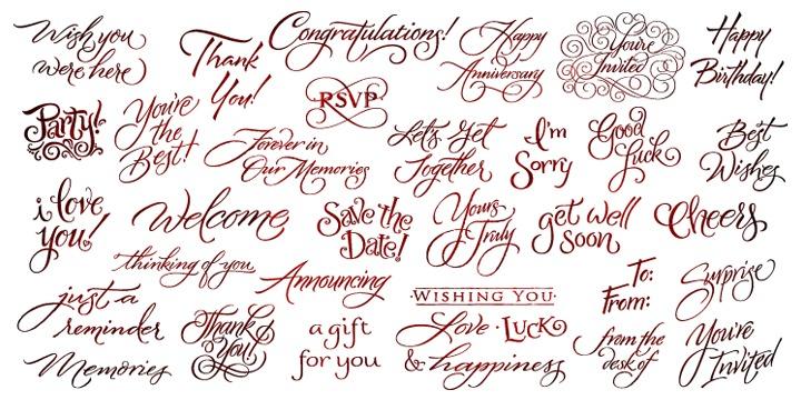 tag card symbols MyFonts – Birthday Card Font