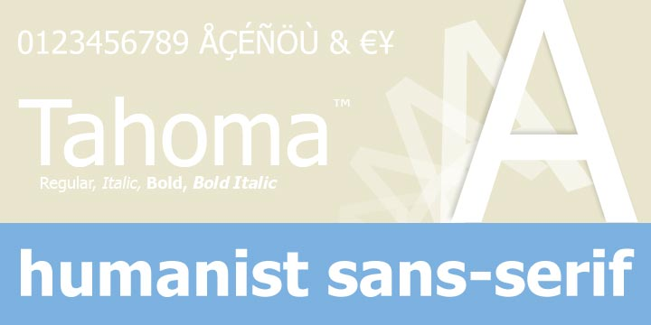 Tahoma | Webfont & Desktop font | MyFonts