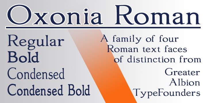 oxonia roman font