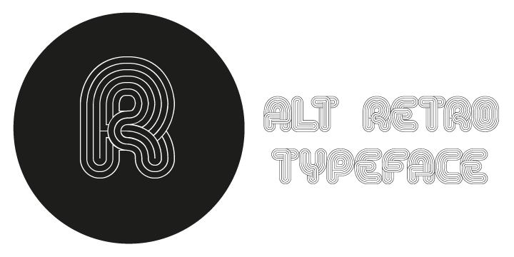 Alt Retro Typeface Font Download