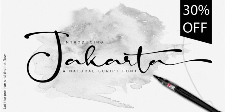 winter brand personality font: JAKARTA
