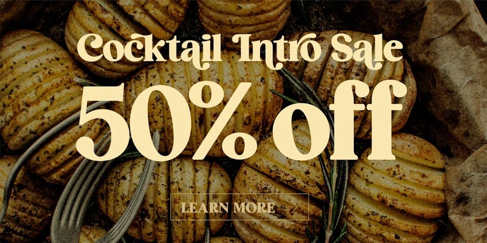 Special offer on HV Cocktail