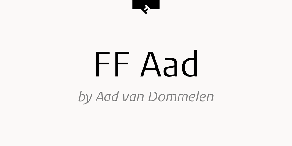 FF Aad font page