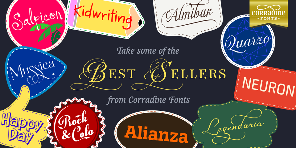 Corradine Fonts' Bestsellers by Corradine Fonts