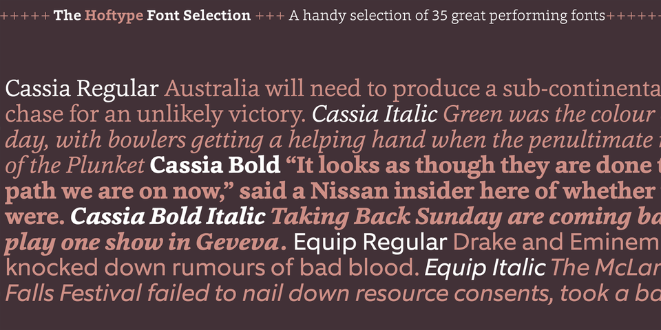 The Hoftype Font Selection by Hoftype