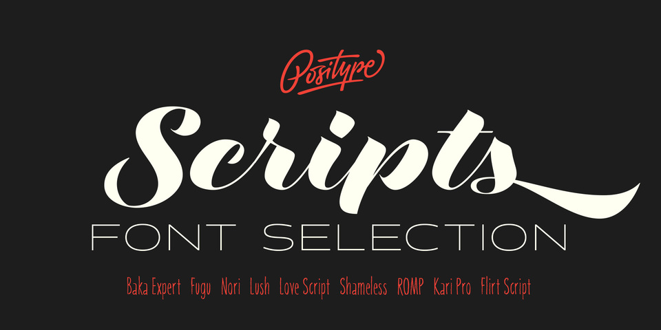 Positype Script Font Collection by Positype