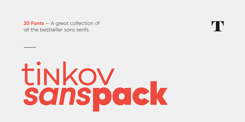 Download Tinkov Sans Pack « MyFonts