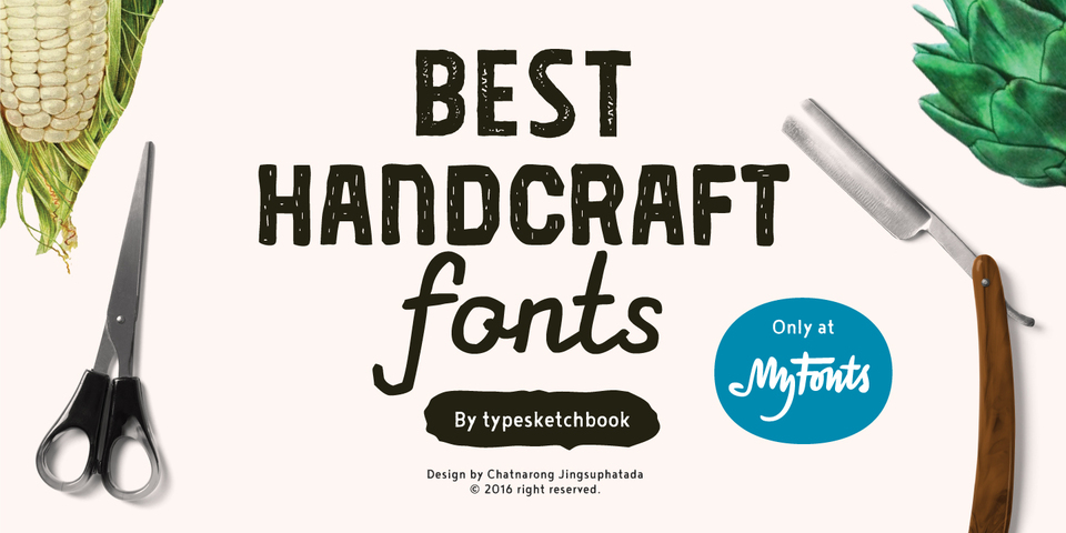 Best Handcraft Fonts by Typesketchbook by Typesketchbook