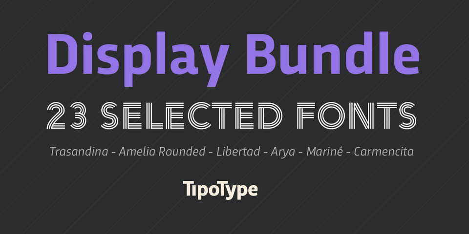TipoType's Display Font Collection by TipoType