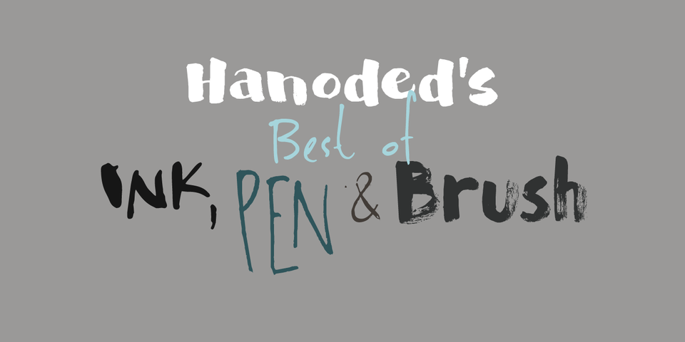 Hanodeds Best Of Ink, Pen & Brush Bundle by Hanoded