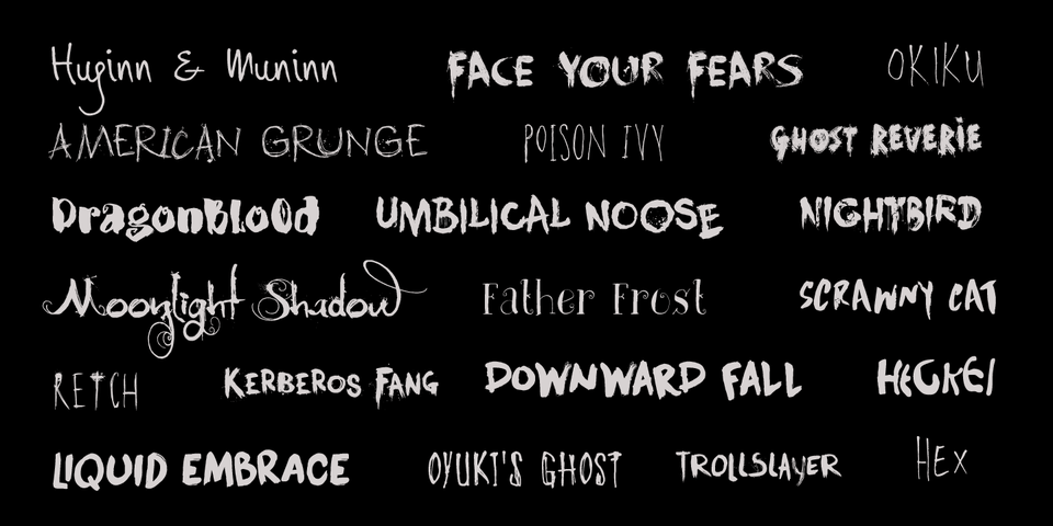 Hanoded's Best Of Scary & Horror Fonts « MyFonts