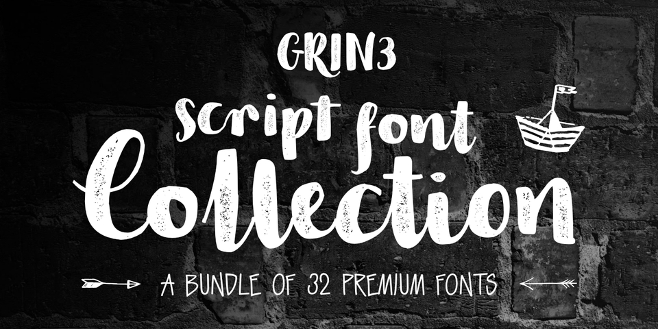GRIN3 Script Font Collection by GRIN3 (Nowak)