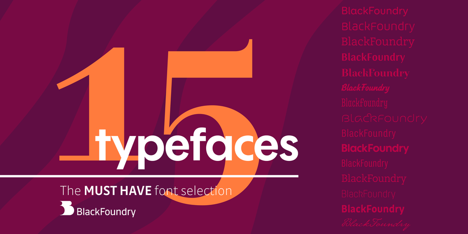 Black Foundry's MUST HAVE Font Selection by Black Foundry