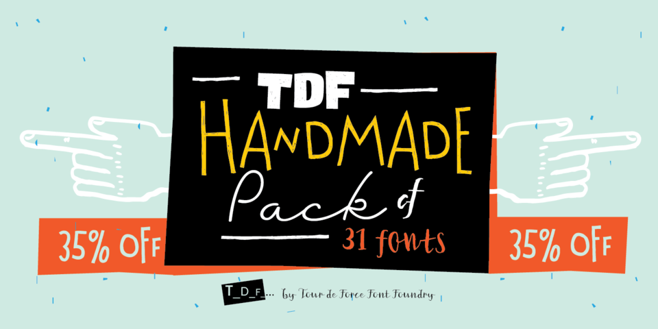 TDF Pack of 31 Handmade Fonts by Tour De Force