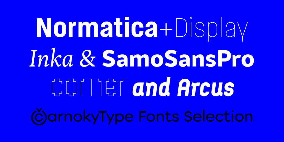 CarnokyType Fonts Selection by CarnokyType