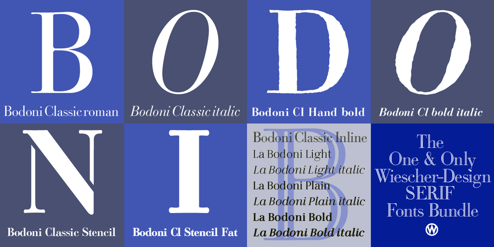 The One & Only Serif Bundle by Wiescher Design