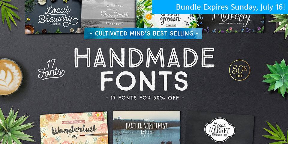 Cultivated Mind's Best Selling Handmade Fonts by Cultivated Mind