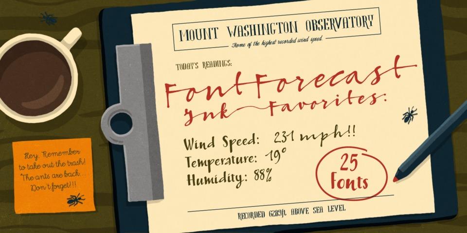 Fontforecast's Ink Favorites by Fontforecast