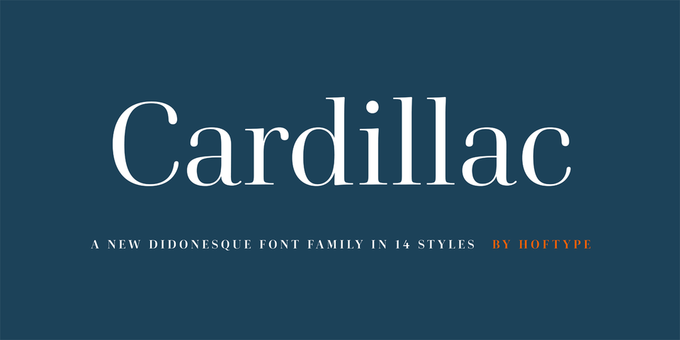 Cardillac font page
