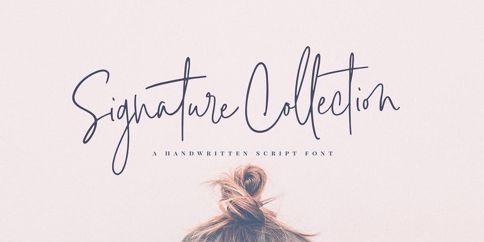 Signature Collection font page