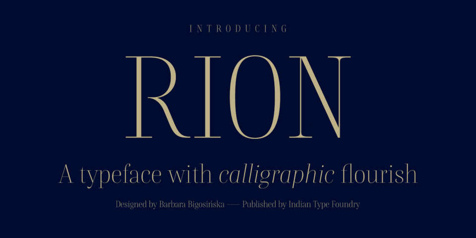 Rion font page
