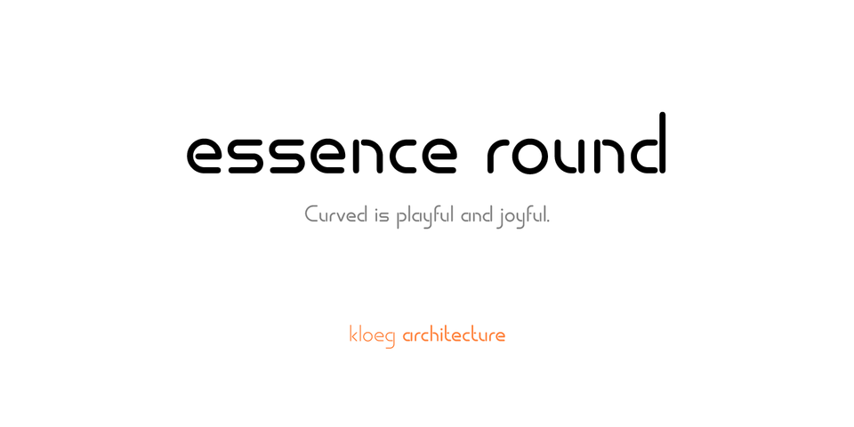 essence round font page