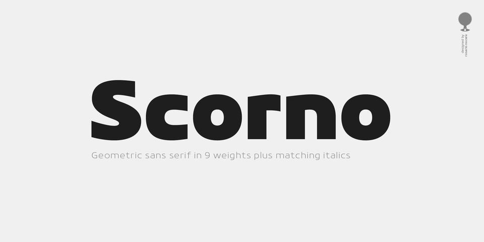 Scorno font page