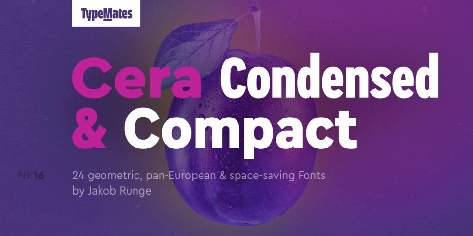 Cera Condensed & Compact Pro font page