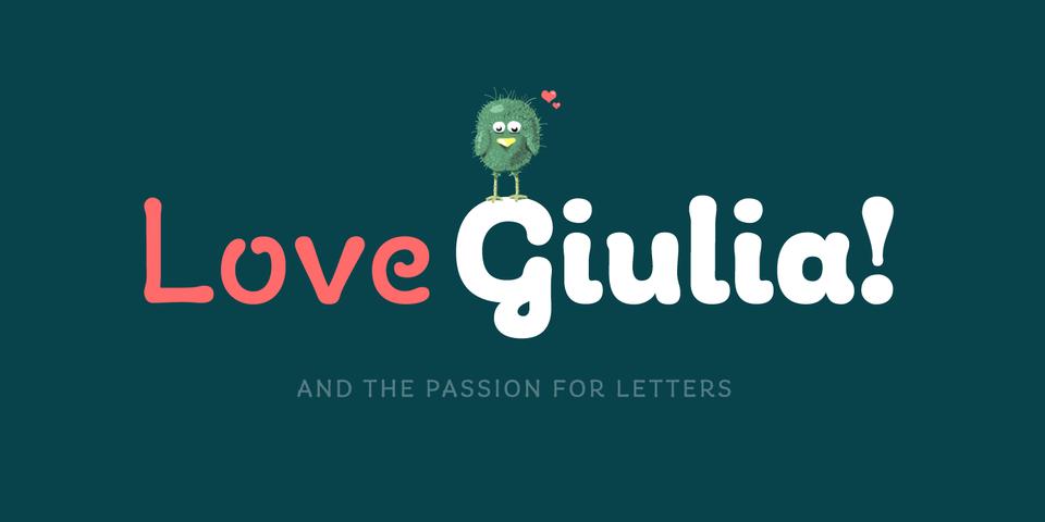 Giulia font page