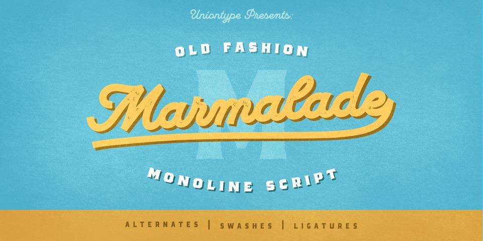 UT Marmalade font page