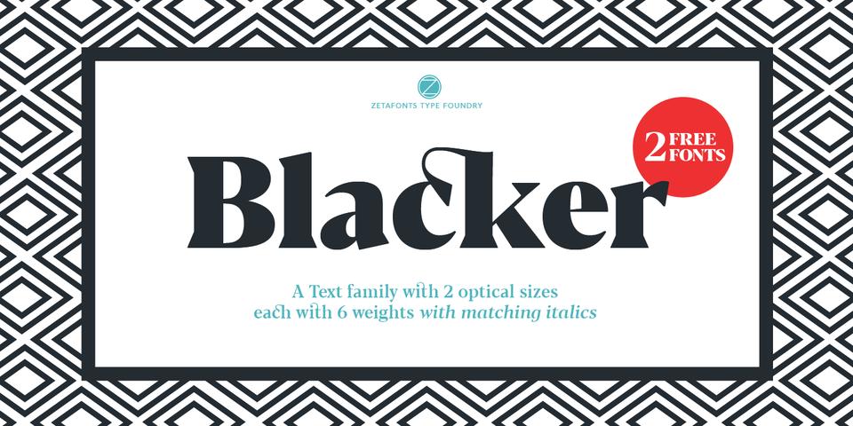 Blacker font page