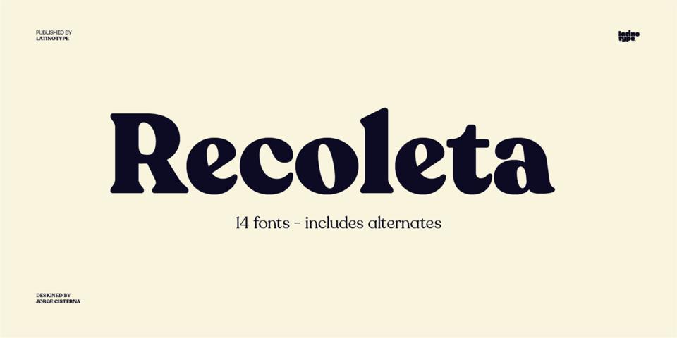 Recoleta font page