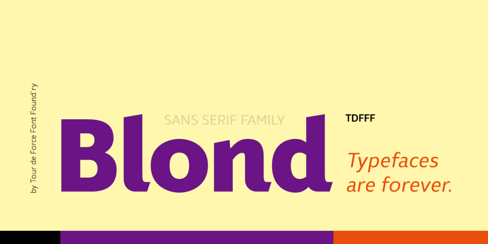 Blond font page