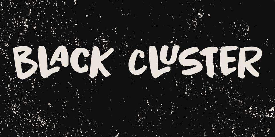 Black Cluster font page