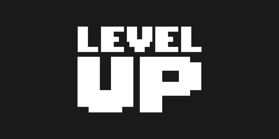 Level Up font page