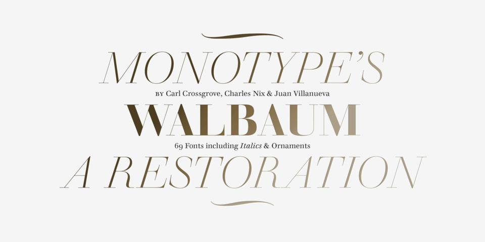 Walbaum font page