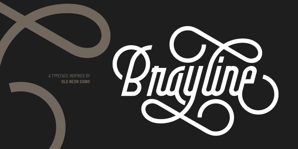 Brayline font page