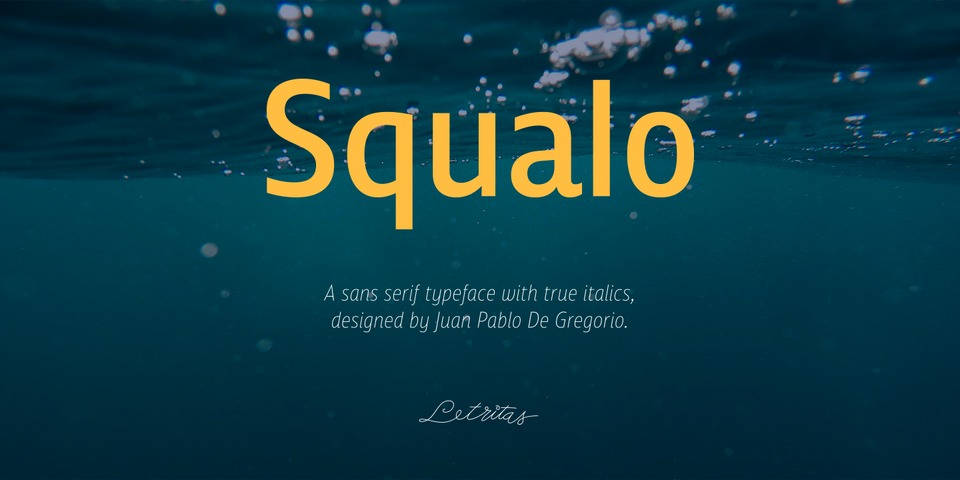 Squalo font page