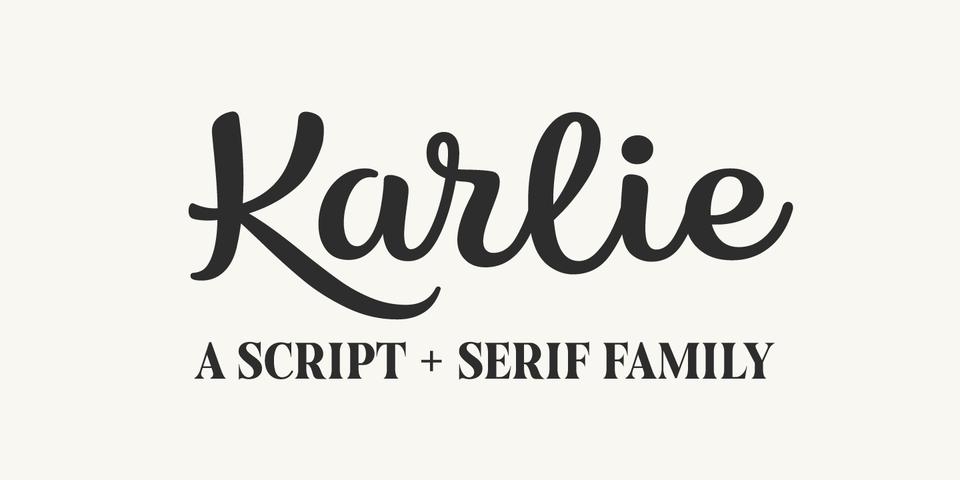 Karlie font page
