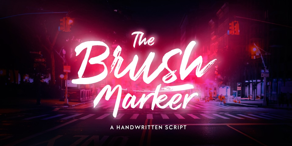 Brush Marker font page