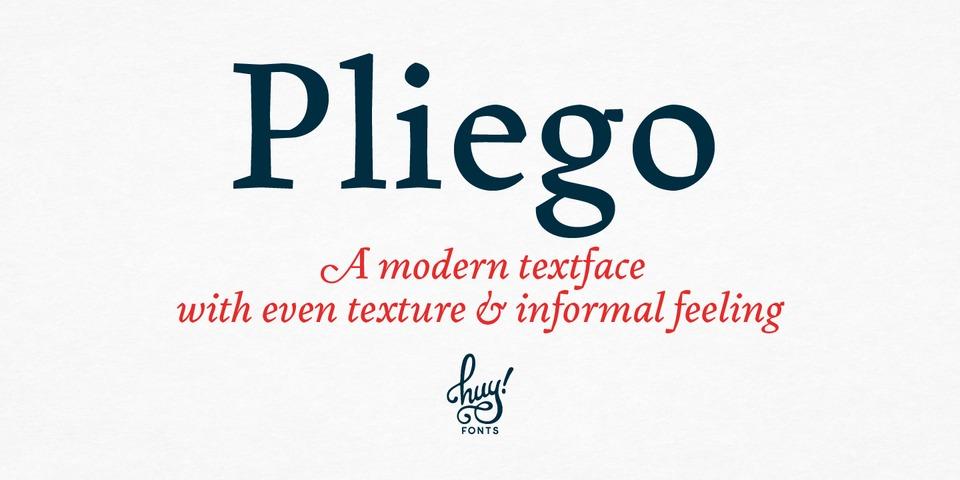 Pliego font page