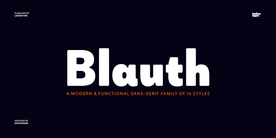 Blauth font page