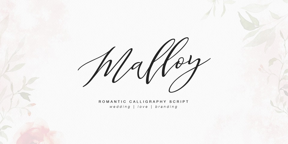 Malloy font page