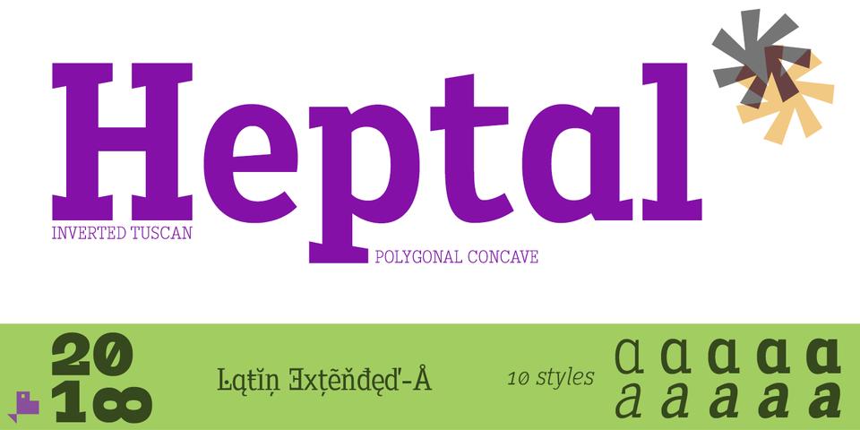 Heptal font page