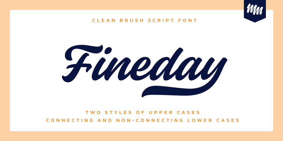 Fineday font page