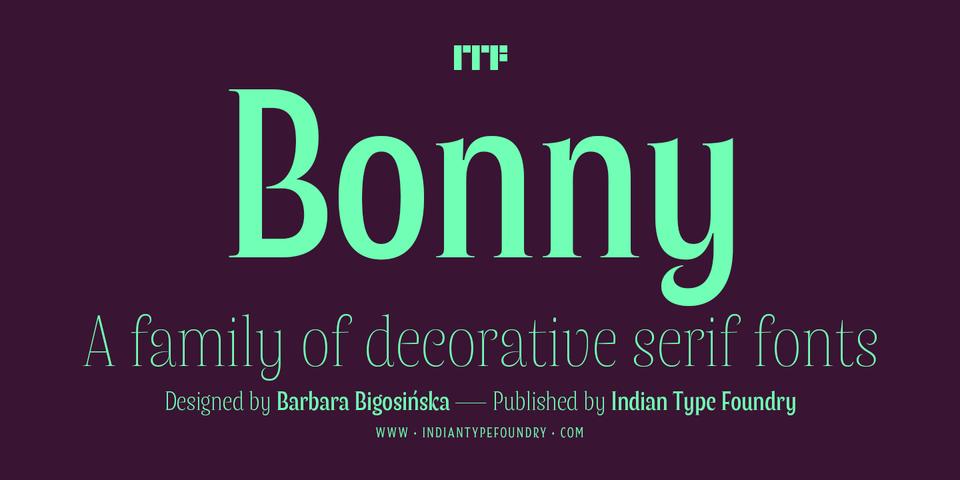 Bonny font page